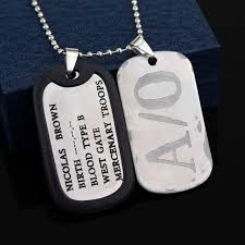 titanium dog tag necklace images Dongsheng gangsta a 0 nicolas brown mercenary dog tag necklace jpg