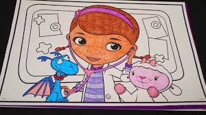 coloring doc mcstuffins u0026 friends disney giant coloring book page