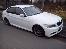 bmw series 3 white bmw 3 series 320d e90 m sport 50k lci white may px scirocco