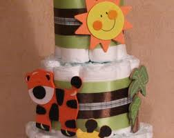 jungle diaper cake etsy