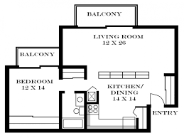 beautiful design one bedroom apartment floor plans typical layout