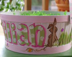 painted easter baskets vintage easter basket 1980 s crochet easter basket pink