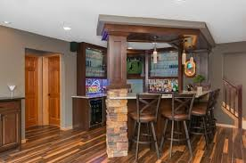 bar adding a basement kitchen wonderful stone basement bar