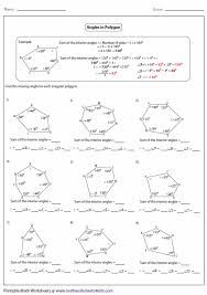 Formula For Interior Angles Of A Polygon Sum Interior Angles Polygon Worksheet