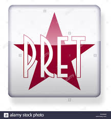 pernod ricard logo pret a manger logo as an app icon clipping path included stock