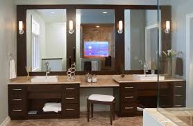 bathrooms design modern makeup vanity bathroom with station