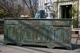 furniture distressed sideboard rustic credenza dining room