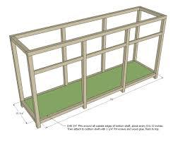 triple console cabinet woodworking plans woodshop plans