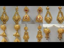 gold earrings for gold earring design images for daily wear for