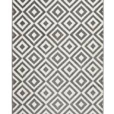 Modern Rugs Ltd Mt 89 Grey White Modern Rug