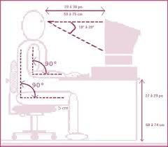 hauteur de bureau de travail l ergonomie et l ordinateur adjointe en ligne