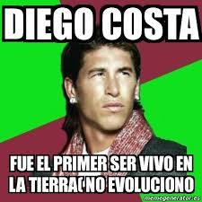 Diego Costa Meme - meme sergio ramos diego costa fue el primer ser vivo en la tierra