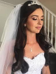 wedding hair veil half up half wedding hairstyles 50 stylish ideas for brides
