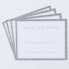 Card Factory Wedding Invitations Glittery Save The Date Cards Pack Of 20 Only 99p