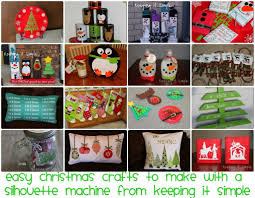christmas crafts to make with a silhouette machine and silhouette