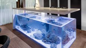 deluxe custom kitchen island ideas jaw dropping designs this incredible kitchen island fish tank brings real time ocean feel the complete