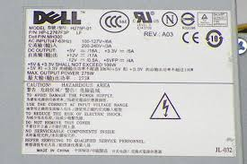 dell h275p 01 optiplex 740 745 755 gx520 gx620 sff mh300 psu power