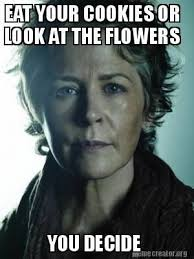 Look At The Flowers Meme - image result for the walking dead look at the flowers meme walking
