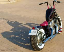 vt600 shadow bobber for a woman in spain by free kustom cycles