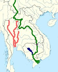 Mekong River Map File Mekongchaophraya Svg Wikimedia Commons