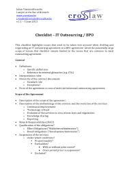 Notice Of Termination Agreement by Checklist It Outsourcing Belgian Law English Version