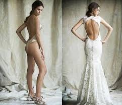 backless wedding dresses what should i wear my wedding dress