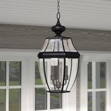 exterior hanging light fixtures outdoor hanging lights you ll love wayfair
