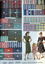 check vs plaid 1940s fabrics and colors in fashion