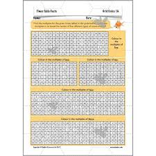times table grid times table facts 2 3 4 5 and 10