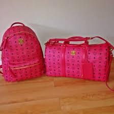 mcm designer bag mcm swag dope designer pink mcm bag pink bag wheretoget