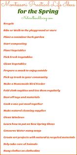 printable montessori curriculum montessori practical life ideas for the spring free printable