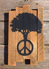 peace tree painting on reclaimed wood peace sign peace tree
