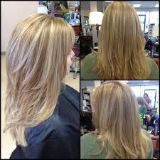 layered crown haircut layered haircut highlights lowlights dimension hair makeup