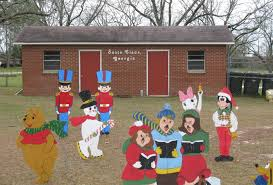 Christmas Cutout Decorations Santa Claus Ga Toombs County Christmas Decorations Painted Wooden