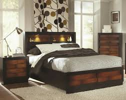 bed with lighted headboard image of queen storage affordable diy