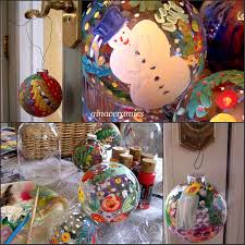 art and alfalfa hand painted glass christmas ornaments how to