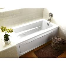 shop jacuzzi primo 60 in white acrylic drop whirlpool tub with bathroom lowes tubs tub and shower combo bath shop tubs whirlpool