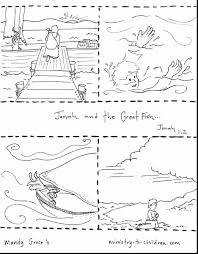 fantastic jonah and the whale coloring pages for kids with
