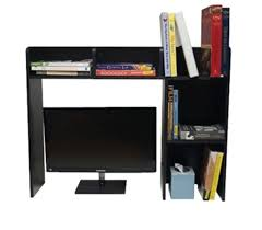 classic dorm desk bookshelf black