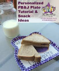 hand painted peanut butter and jelly plate tutorial as you wish