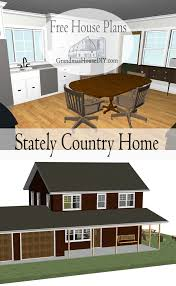 Country House Plans With Porch 90 Best Free House Plans Grandma U0027s House Diy Images On Pinterest