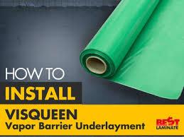 how to install visqueen vapor barrier