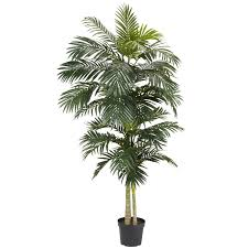 palm tree home decor nearly natural 5326 golden cane palm silk tree 8 feet green
