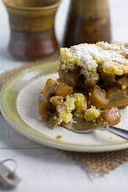apple pear crumble spiced apple and pear crumble slice almondtozest com