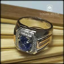 model cincin blue safir jual cincin berlian pria dg blue sapphire dvmc e178395 esld