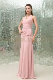 etui linie v ausschnitt bodenlang chiffon brautjungfernkleid mit blumen p629 rosa brautjungfernkleider verkaufen pfaumode shop
