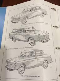 austin a55 mkii a60 workshop manual akd1025d sports u0026 classics
