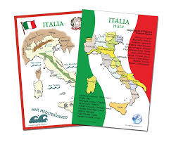 Map Of Italy by Amazon Com Italian Language Poster Set Maps Of Italy