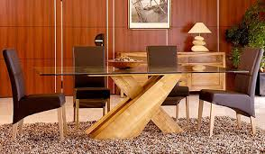 Glass And Oak Dining Table Set Pinetum Corndell Tch And Dining Furniture At Karl