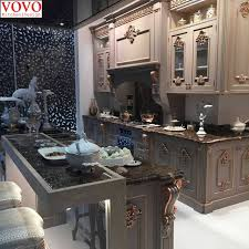 solid wood kitchen furniture solid wood kitchen furniture with gold painted design on aliexpress